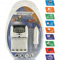 Enecharger AA 12V car charger and USB Battery Charger
