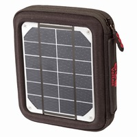 Solar Battery Charger Voltaic AMP 4W Color : Charcoal with V15 Battery - VAMP-C